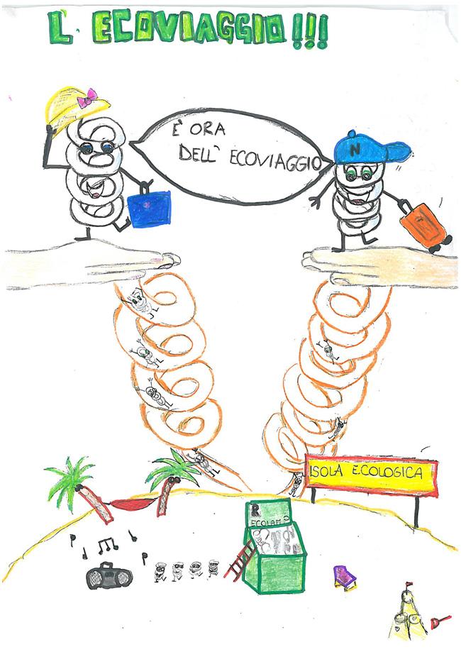 Disegno vincitore concorso Accendiamo l'Idea di Ecolamp e Legambiente